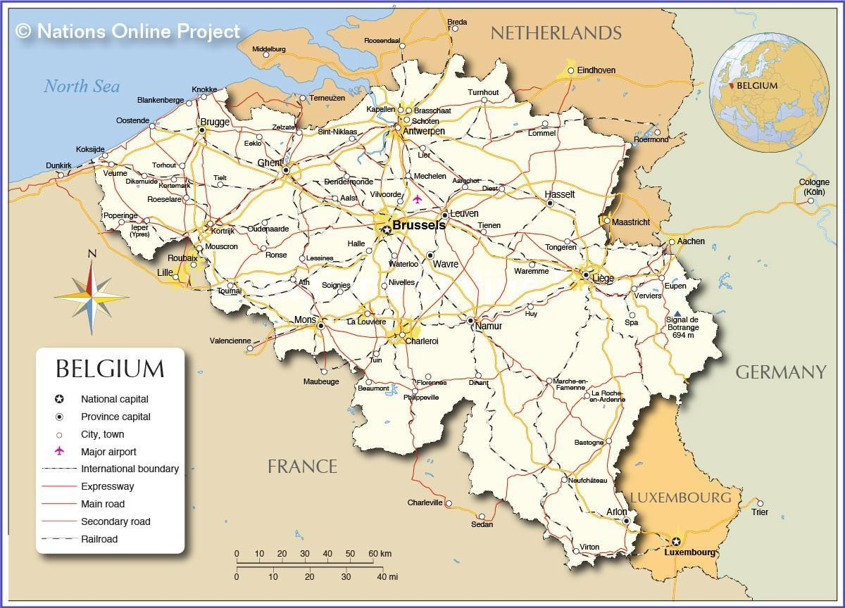 Mapa De Belgica Mapa De Belgica Europa Occidental Europa